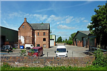 SJ9922 : Old canal wharf building near Great Haywood, Staffordshire by Roger  Kidd