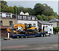 SS9795 : Heavy plant in transit, Ton Pentre by Jaggery