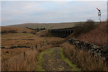 SD7992 : Pennine Bridleway approaching Dandrymire Viaduct by Chris Heaton
