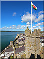 SH4762 : View from the Eagle Tower at Caernarfon Castle by Jeff Buck