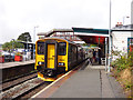 SX0152 : St Austell station - sprinter calling by Stephen Craven