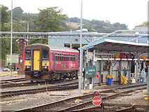 SX9193 : Sprinter and washing plant, Exeter St Davids by Stephen Craven