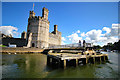 SH4762 : Passing below Caernarfon Castle by Jeff Buck