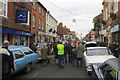 SP7840 : Stony Stratford High Street during Vintage Gathering by Philip Jeffrey
