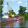 SJ8710 : Boatyard near Stretton in Staffordshire by Roger  Kidd