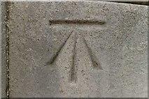 TR1457 : Cut Bench Mark, Dane John Mound by Mark Anderson