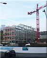 SE1422 : Apartment block under construction, Bramston Street, Rastrick by Humphrey Bolton