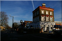 TQ3085 : The Castle Bar, on the corner of Hillmarton Road by Christopher Hilton