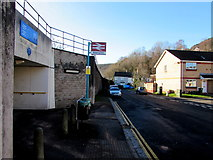 ST0894 : Abercynon railway station name sign by Jaggery