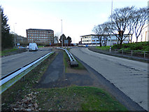 NS3274 : The A8 at Newark Roundabout, Port Glasgow by Thomas Nugent