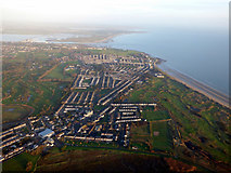 O2442 : Portmarnock and the coast from the air by Thomas Nugent