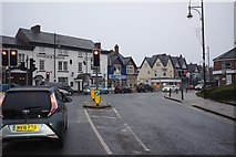 SJ8588 : Traffic lights in Cheadle by Bob Harvey