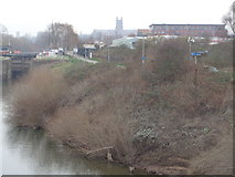 SO8453 : Bank of the river Severn near Diglis  in Worcester by Jeff Gogarty