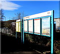 SO0201 : Information boards on the approach to Cwmbach railway station by Jaggery