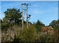 SK6735 : Power lines at Cropwell Bishop by Mat Fascione