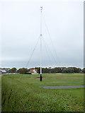 NS3329 : Troon Ladies Golf Club flagpole by Thomas Nugent