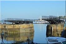 SX4653 : Royal William Yard - swing bridge by N Chadwick