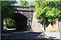 SK5836 : Railway bridge over Devonshire Road by Roger Templeman