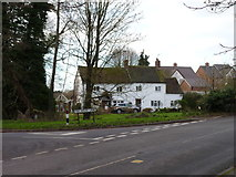 SO9568 : House at the road junction by Jeff Gogarty