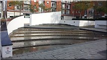 SU7170 : Water feature, Kennet Island, Reading by Chris Wood
