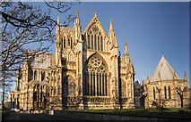 SK9771 : Lincoln Cathedral east end by Julian P Guffogg