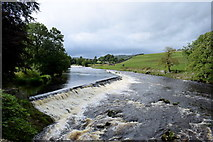 SE0063 : Weirs on the River Wharfe at Linton by Bill Harrison