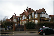 TQ3090 : Wood Green: Trinity Primary Academy, Bounds Green Road by Christopher Hilton