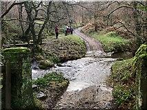 SK2279 : Highlow Brook Ford by John Walton