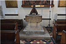 TQ9220 : Church of St Mary - font by N Chadwick