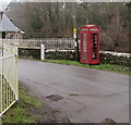 SO2418 : Red phonebox, Llangenny, Powys by Jaggery