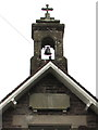 SO2318 : Llangenny School Hall bell tower and inscriptions by Jaggery