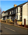 ST1490 : Row of stone houses, High Street, Llanbradach by Jaggery