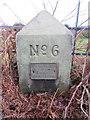 SJ2485 : Thurstaston Recreation Ground Boundary Stone #6 by John S Turner