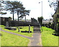 SS7698 : South side of St Illtyd's churchyard, Llantwit,  Neath by Jaggery