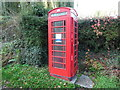 SO5405 : Red K6 Telephone Box at The Fence by David Hillas
