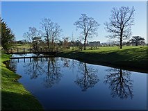 SO8844 : Croome River in Croome Park by Philip Halling