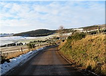 NJ5504 : Minor road between Blelack and Whitehouse  (230m asl) by Stanley Howe