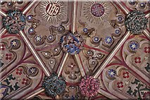 ST6316 : Sherborne Abbey: Fan vaulting detail 2 by Michael Garlick
