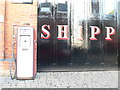 SO8540 : Old Petrol pump at Shipp's Garage by Eirian Evans