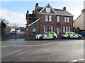 ST1788 : Bedwas Police Station and police cars by Jaggery