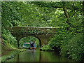 SJ7426 : Canal and Knighton Bridge in Staffordshire by Roger  Kidd