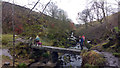 SD9628 : Hebble Hole footbridge  - restored after damage caused by fallen tree by Phil Champion