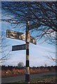 NY4536 : Old Direction Sign - Signpost, east of the B5305, New Rent, Unthank, Skelton Parish by Milestone Society