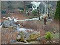 TQ3470 : Dinosaur sculptures, Crystal Palace Park by Robin Drayton