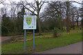 TQ3471 : Information board, Crystal Palace Park by Robin Drayton
