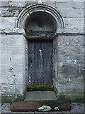 NS3975 : Dumbarton Prison: door by Lairich Rig