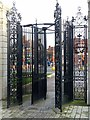 SK5903 : Victoria Park Gates, London Road by Alan Murray-Rust