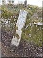 SX5073 : Old Milestone south east of Caseytown Cross and Tavistock by Mark Fenlon