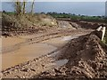 SO8442 : Gravel extraction site, Ryall Court Farm by Philip Halling