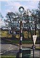 NY4532 : Old Direction Sign - Signpost in Little Blencow, Greystoke Parish by Milestone Society